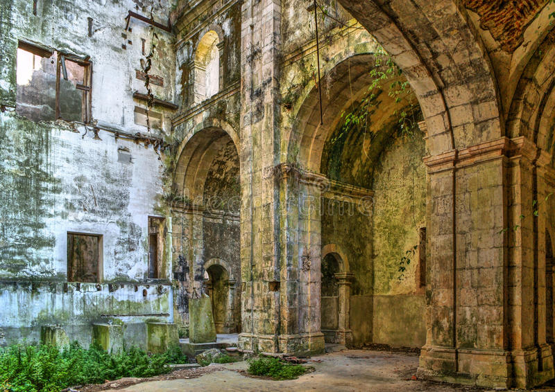 Download Ruined convent of Seica stock image. Image of ruined - 87531419