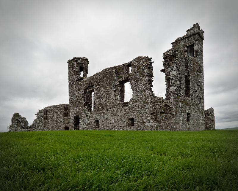 Ruined friary church and college on the Hill of Slane, Co. Meath, Ireland. Ruins of a friary church and college on the Hill of Slane, Co. Meath, Ireland, that stock image
