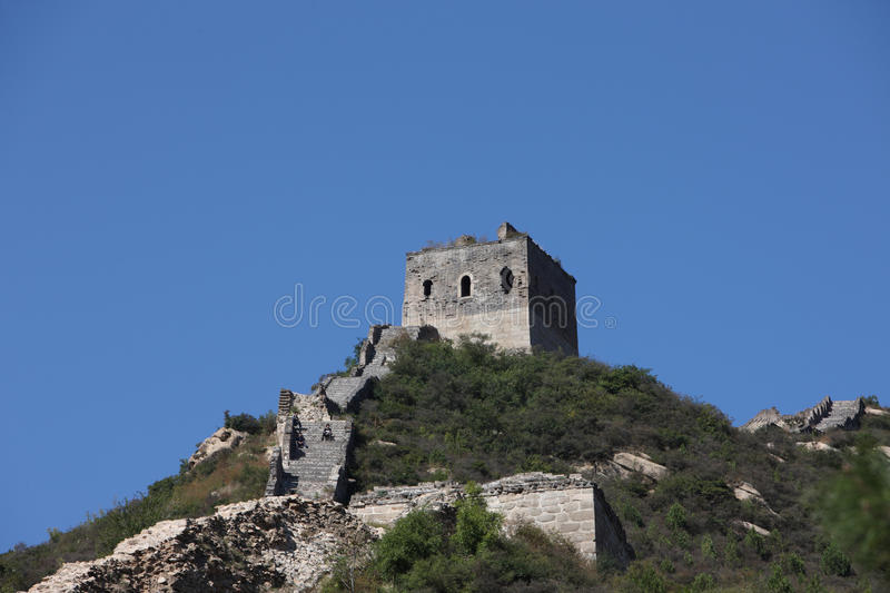 Download Ruined great wall beacon stock photo. Image of green - 21694912