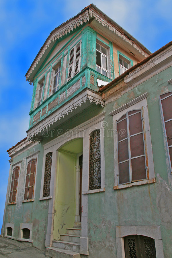 Ruined house in turkey royalty free stock photos