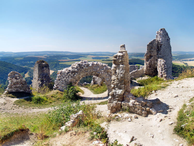 Download Ruined Interior Walls Of The Castle Of Cachtice Stock Image - Image: 29556927