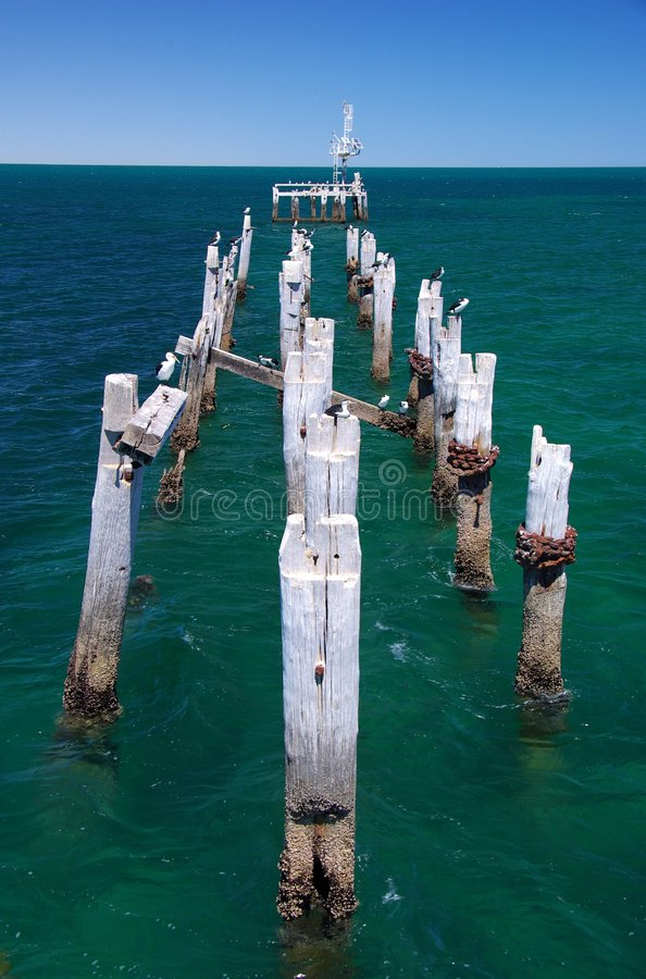 Download Ruined Jetty stock photo. Image of damaged, ruined, pier - 7104400