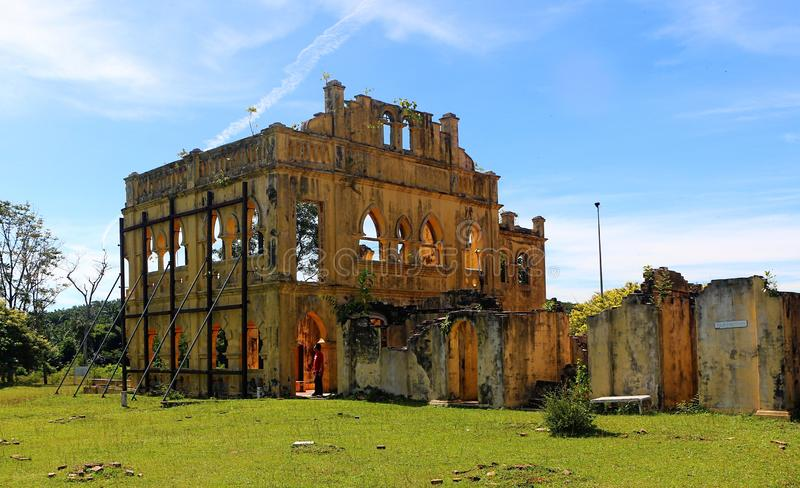 Ruined of Kellie`s house built in 1905 by a Scottish planter named William Kellie stock images