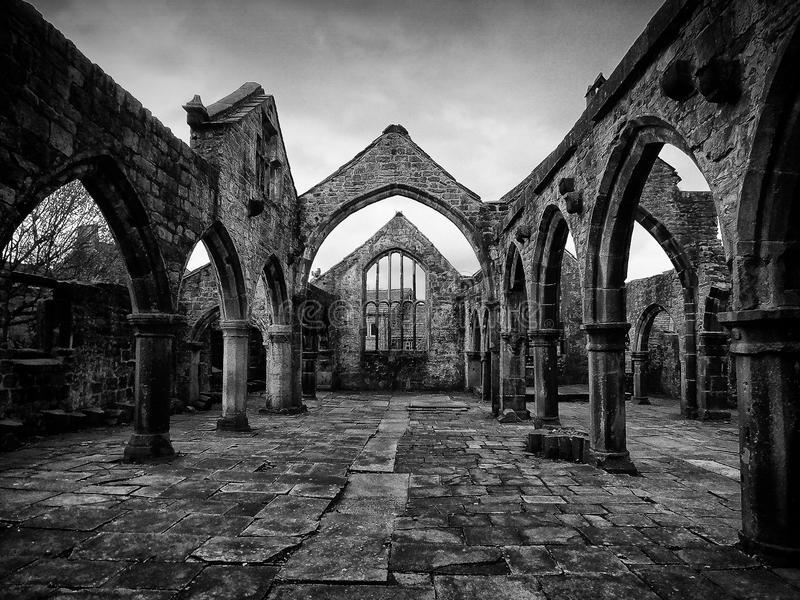 Ruined Church Tower Interior Stock Photo Image Of Area