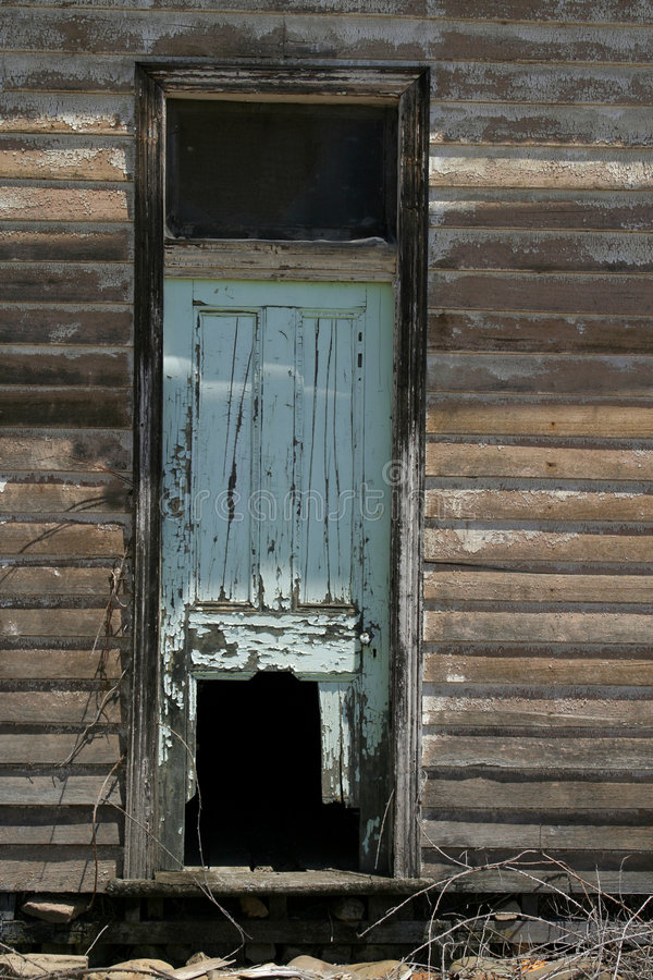 Ruined old door. Part of a ruined old homestead royalty free stock photography