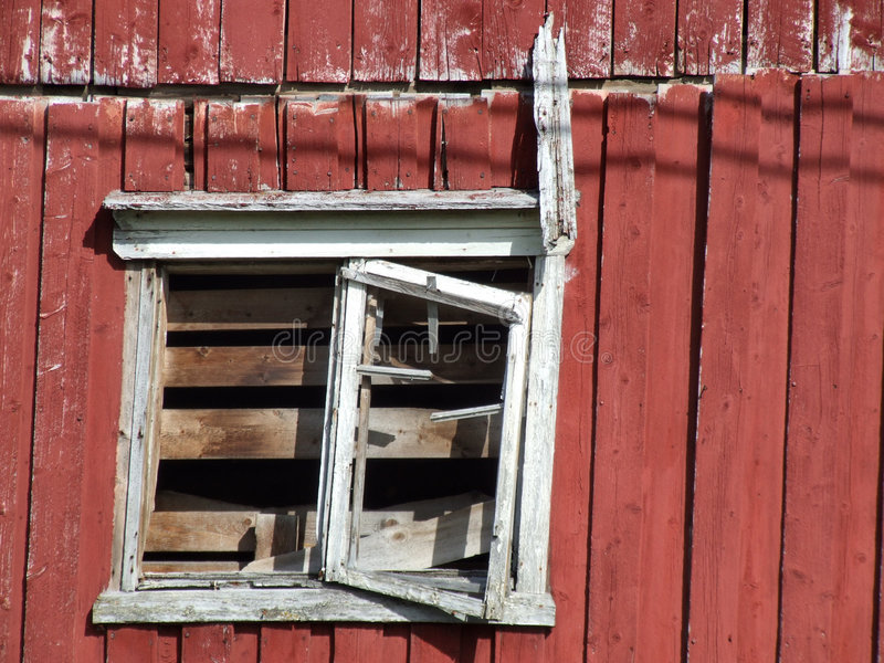 Ruined old wooden house window royalty free stock photos