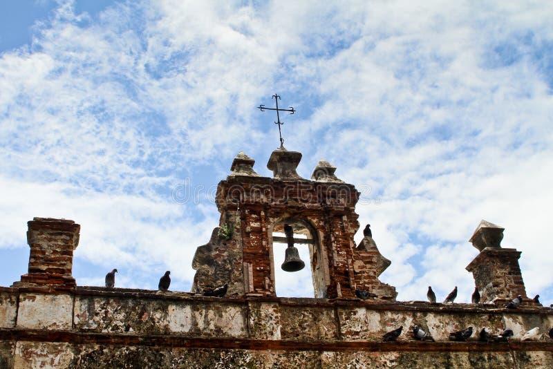 Ruined Spanish style church royalty free stock photo
