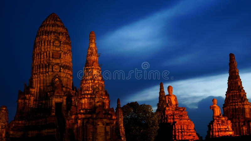 Ruined temple (Thailand) stock photo