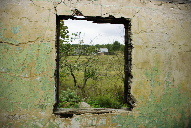 Download Ruined wall stock photo. Image of dirty, window, house - 11471942