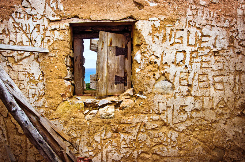 Ruined Wall stock images