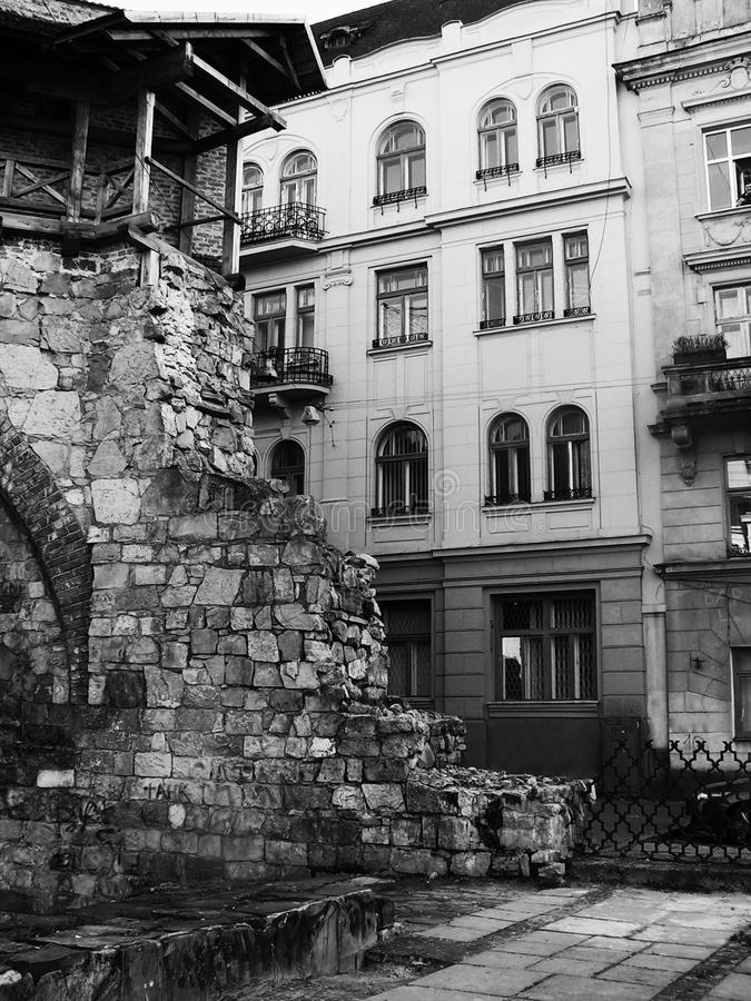 Free Ruined Wall In Ancient Part Of Lvov Stock Photo - 22610360