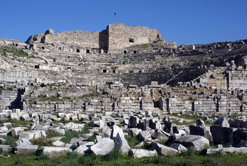 Download Ruinen stockfoto. Bild von tourist, griechisch, anatolia - 9098236