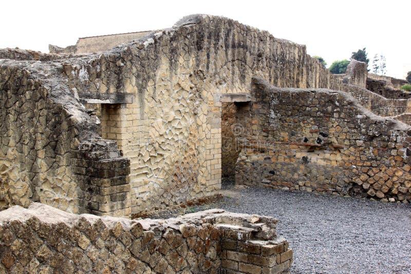 Ruinen in alten Roman Herculaneum, Italien stockfoto