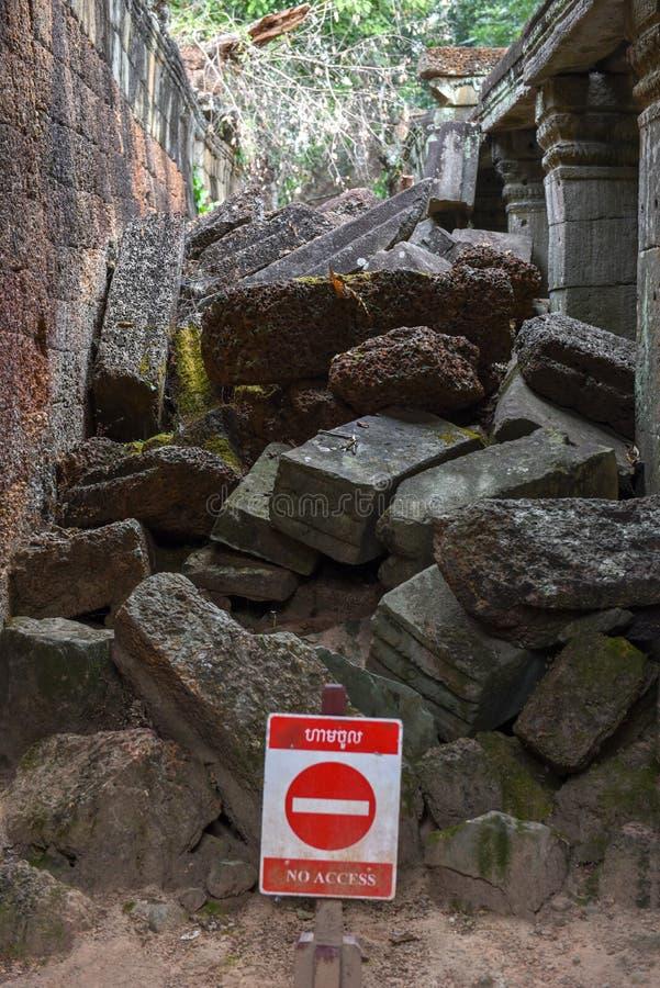 Ruinen alten Tempels Preah Khan in Angkor auf Kambodscha lizenzfreies stockbild