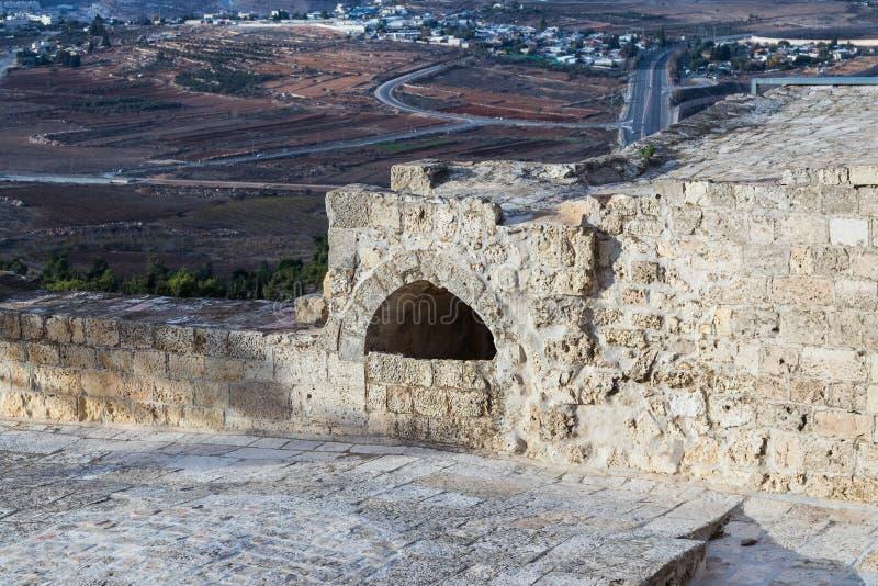 Ruinen auf dem Gebiet des Grabs von Samuel - der Prophet Auch gefunden in Al-Nabi Samuil - palästinensisches Dorf I An-Nabi Samwi lizenzfreie stockbilder