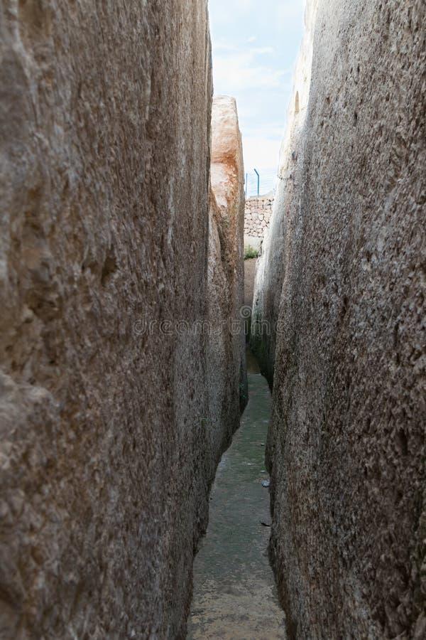 Ruinen auf dem Gebiet des Grabs von Samuel - der Prophet Auch gefunden in Al-Nabi Samuil - palästinensisches Dorf I An-Nabi Samwi stockfoto