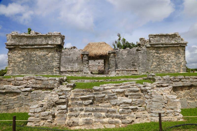 Ruinen bei Tulum, Mexiko stockbild