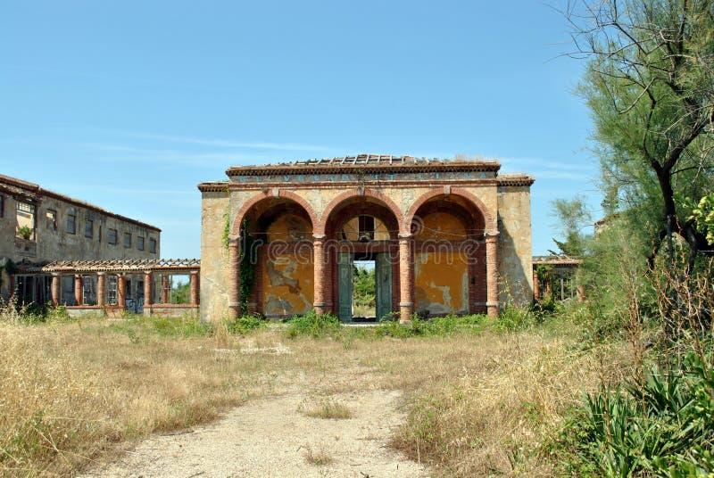 Ruinen in Calambrone stockfotografie
