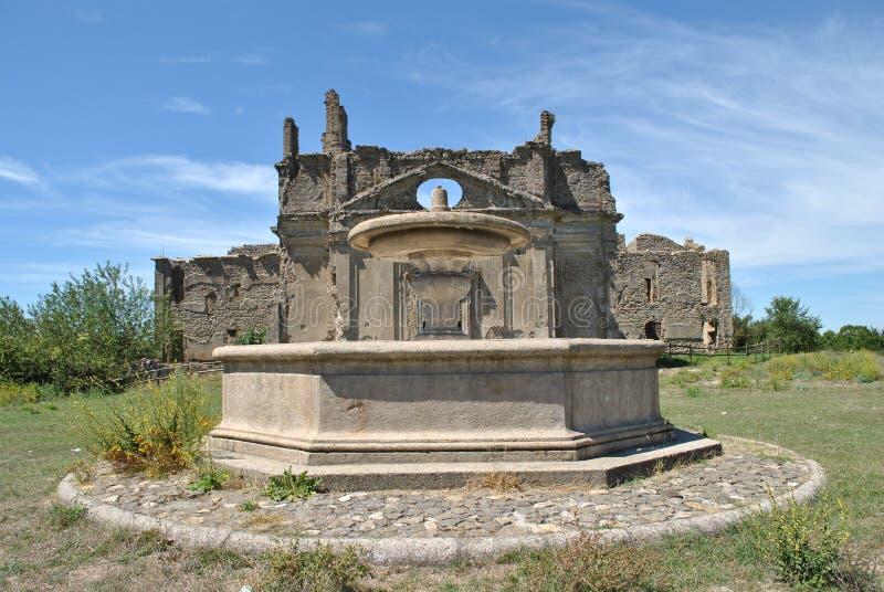 Ruinen in Canale Monterano lizenzfreies stockfoto
