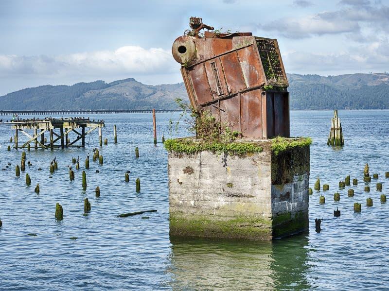 Ruinen am Columbia-Fluss stockfoto