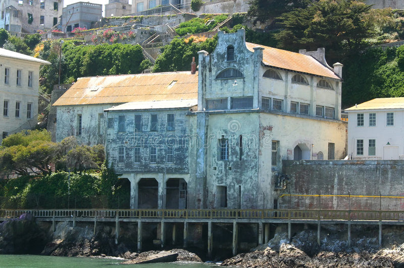 Ruinen der Alcatraz Militär-Kapelle lizenzfreies stockfoto