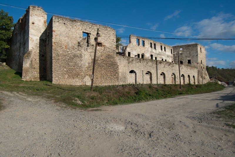 Ruinen der alten Festung in Chortkiv, Ukraine lizenzfreie stockfotografie