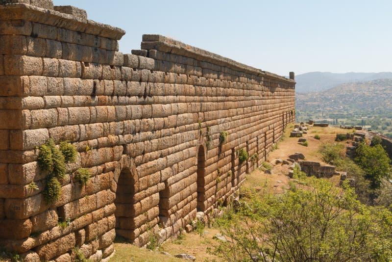 Ruinen der alten Stadt Alinda stockbild