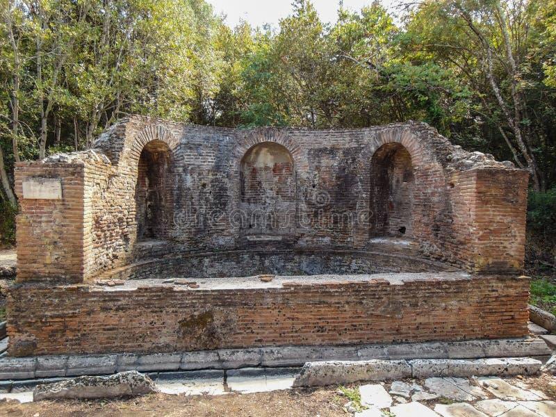 Ruinen der alten Stadt Butrint lizenzfreie stockbilder