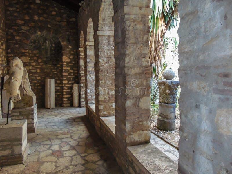 Ruinen der alten Stadt Butrint stockbild