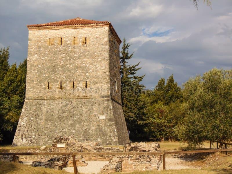 Ruinen der alten Stadt Butrint stockfotografie