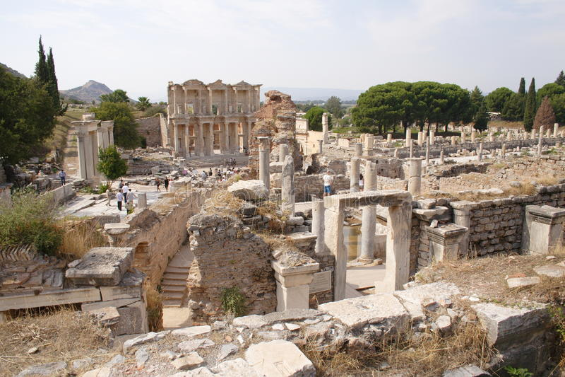 Ruinen der alten Stadt Ephesus stockfoto
