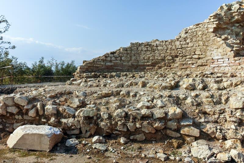 Ruinen der alten Stadt Heraclea Sintica - von Philip II von Macedon, Bulgarien errichtet lizenzfreies stockfoto