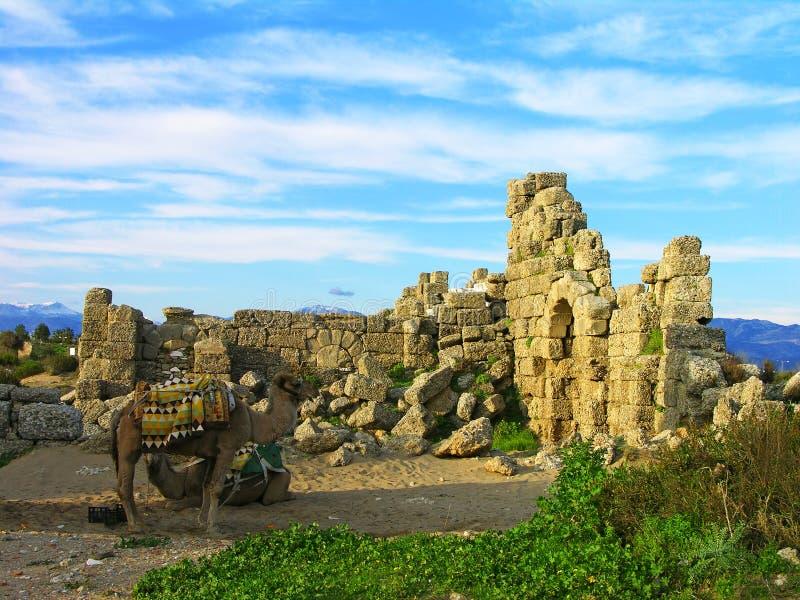 Ruinen der alten Stadt, Seite lizenzfreie stockfotos