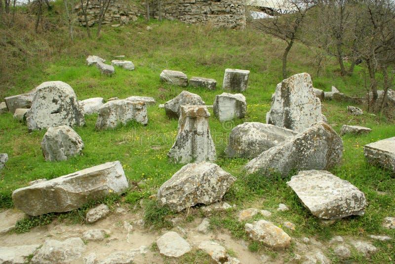Ruinen der alten troy Stadt stockbild