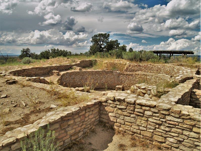 Ruinen in der Anasazi-Erbmitte lizenzfreie stockbilder