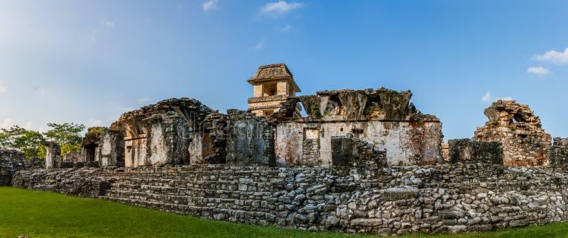 Ruinen an der archäologischen Fundstätte Palenque, Chiapas, Mexiko stockfotografie