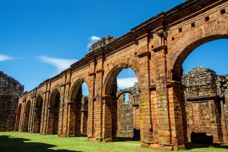 Ruinen der Kathedrale von Sao Miguel DAS Missoes stockbild