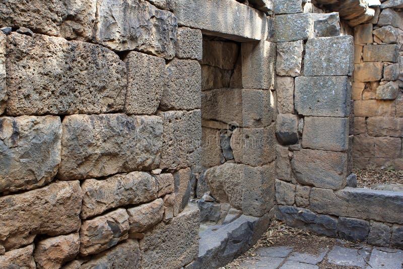 Ruinen der Kirche bei Gamla, Israel lizenzfreie stockfotos