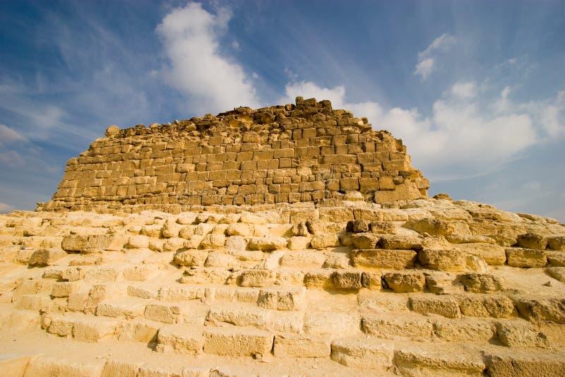Ruinen der Pyramiden stockfoto