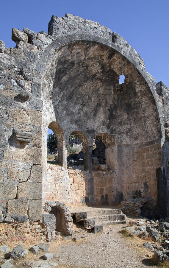 Ruinen der Sankt- Nikolauskirche, die Türkei lizenzfreie stockbilder