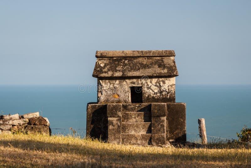Ruinen der VorHispano-Amerikaner-Stadt Quiahuiztlan, Veracruz-Staat lizenzfreie stockbilder