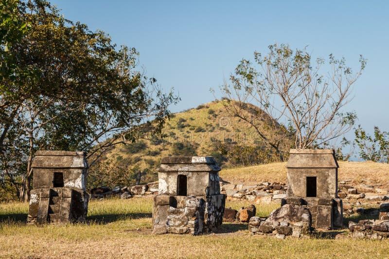 Ruinen der VorHispano-Amerikaner-Stadt Quiahuiztlan, Veracruz-Staat stockbilder