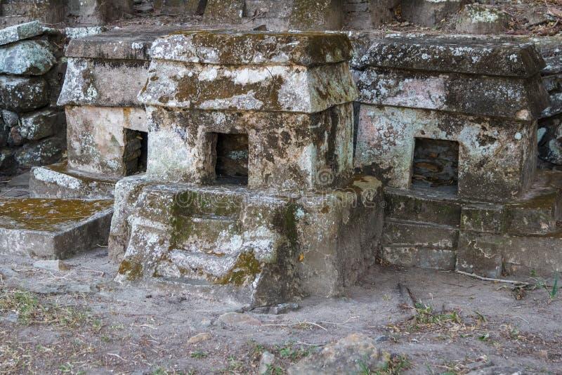 Ruinen der VorHispano-Amerikaner-Stadt Quiahuiztlan, Veracruz-Staat stockfotografie