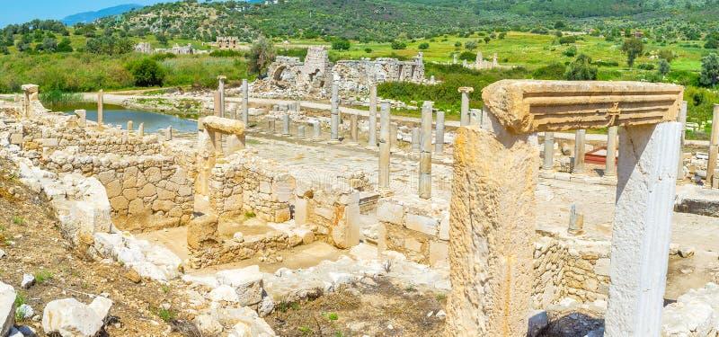 Ruinen des Agoras lizenzfreie stockfotos