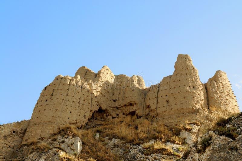 Ruinen des alten Forts in Van, die Ost-Türkei lizenzfreies stockbild