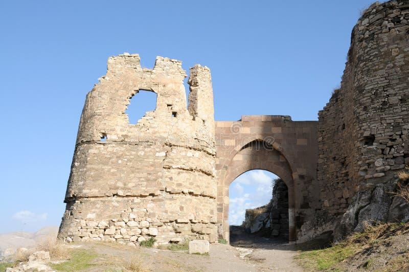 Ruinen des alten Forts in Van, die Ost-Türkei lizenzfreie stockbilder