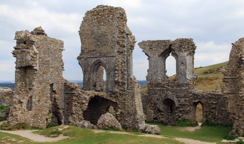 Ruinen des Corfe Schlosses stockfoto