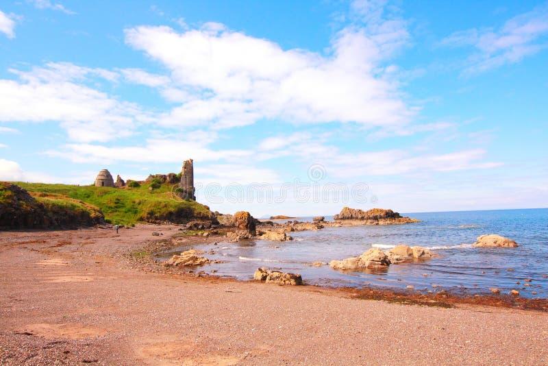 Ruinen des Dunure Schlosses lizenzfreies stockfoto