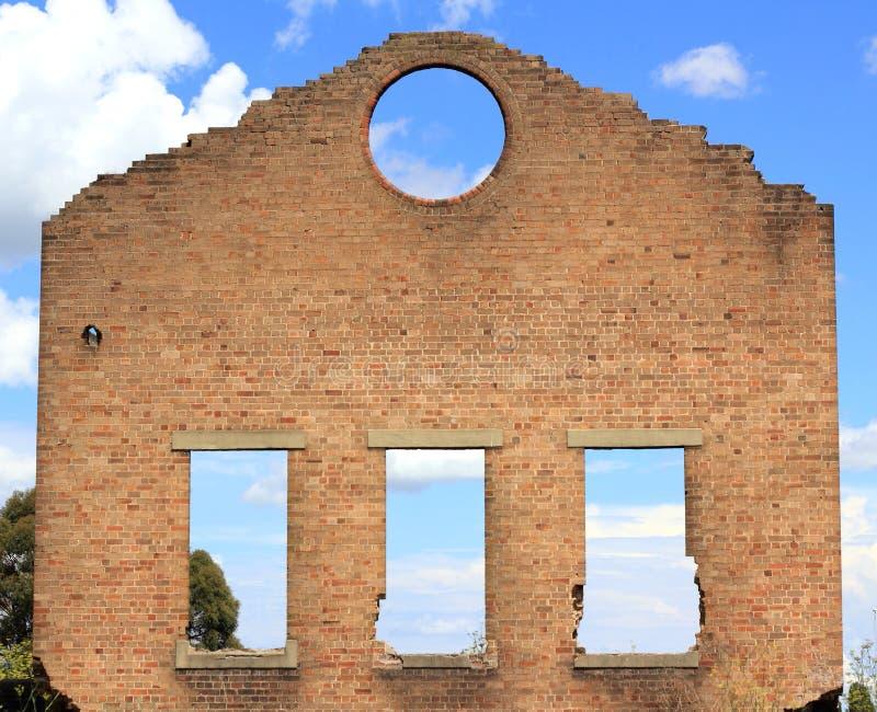 Ruinen des Hochofens in Lithgow stockfotos