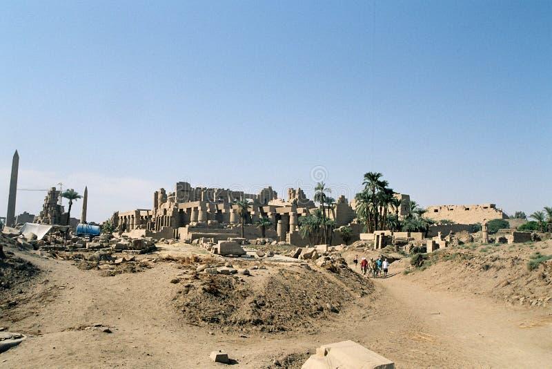 Ruinen Des Karnak Tempels. Stockfotos